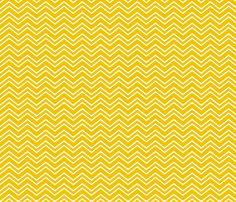 chevron no2 golden yellow and white fabric by misstiina on Spoonflower - custom fabric