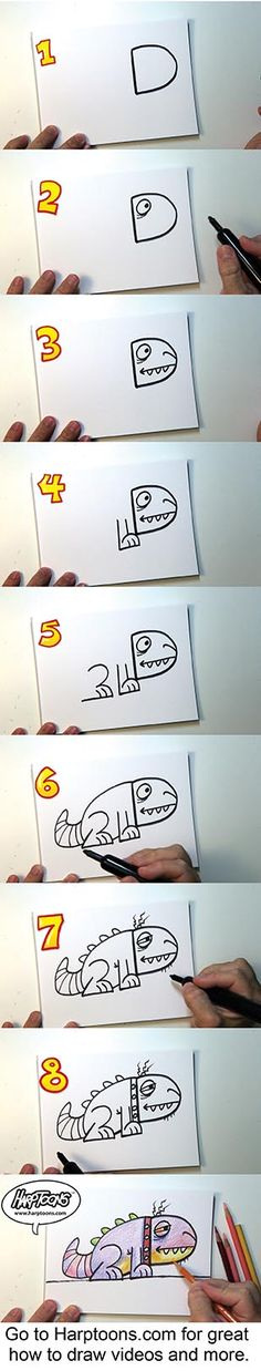 Harptoons- Drawing made simple. Check http://www.harptoons.com for more how to draw videos