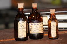 Garrafas de farmácia (etiquetas Vintage) (foto 1)