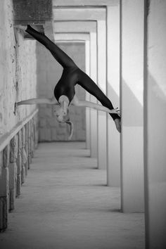 black and white-climb-stretch
