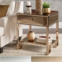 Shop for Akiko Mirrored 1-Drawer End Table by iNSPIRE Q Bold. Get free shipping at Overstock.com - Your Online Furniture Outlet Store! Get 5% in rewards with Club O! - 20742203