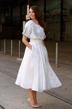 不動の人気カラー「ホワイト」で作る、お洒落度レベルが高すぎる全身白コーデ♡の2枚目の写真