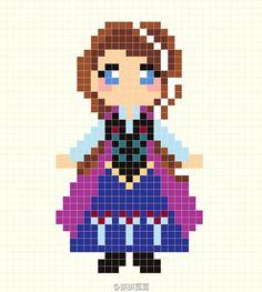 Princess Anna - Frozen Perler Bead Pattern