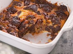 Ultimate Brownie Bread Pudding with Coconut Chunks recipe from Nancy Fuller via Food Network