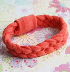 Braided T-Shirt Bracelet - Click on the image for the Tutorial!