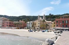 """This lovely Italian Riviera sandy beach maches the tiny fishing village of Laigueglia, just 4 miles from """"La Meridiana Hotel & Golf Resort"""""""