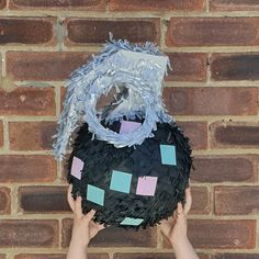 Fortnite inspired Boogie Bomb pinata by Pinyatay Wreaths, Inspired, Halloween, Inspiration, Biblical Inspiration, Door Wreaths, Deco Mesh Wreaths, Floral Arrangements, Garlands