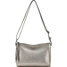 Sak Pfieffer Demi - Pyrite Metallic - Shoulder Bags (919.240 IDR) ❤ liked on Polyvore featuring bags, handbags, shoulder bags, metalic, shoulder handbags, shoulder strap bags, white shoulder bag, metallic purse and white shoulder handbags