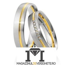Verighete aur alb si aur galben MDV803 #verighete #verighete5mm #verigheteaur #verigheteauraplicatie #magazinuldeverighete Wedding Rings, Engagement Rings, Model, Jewelry, Diamond, Enagement Rings, Jewlery, Jewerly, Schmuck