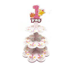 1 Yaş Cupcake Standı Pembe