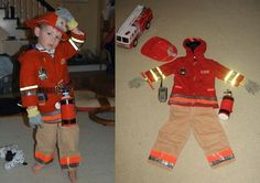 Enjoy the process of creative reuse and take your DIY Halloween costume to the next level by making it from materials you already own. From a larger than life Gordon Gekko-esque cell phone, circa Diy Fireman Costumes, Toddler Halloween Costumes, Family Costumes, Diy Costumes, Halloween Diy, Costume Ideas, Firefighter Birthday, Firefighter Quotes, Firefighter Tools