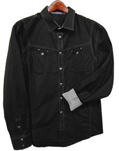 Toku Clothing Contrasting Top-Stitch Shirt
