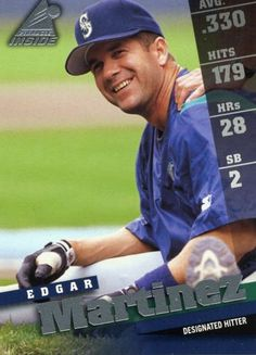 RARE 1998 PINNACLE INSIDE EDGAR MARTINEZ SEATTLE MARINERS MINT