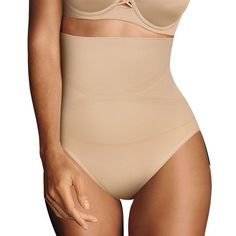 Maidenform Firm Foundations Curvy At-waist Brief Dm1023 High Rise Shapewear Elegant And Graceful Shapewear