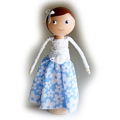 Kids Clothespin Doll Kit £6.25 by Troodlecraft