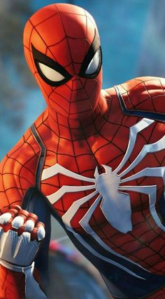 """""""This is the New and Improved Spiderman, highly designed for """"video-game features"""". Other than that, it's a New, Highly Developed Costume for Spiderman Fans everywhere. Amazing Spiderman, Image Spiderman, Spiderman Kunst, Spiderman Pictures, Spider Man Amazing, Spiderman Spiderman, Ms Marvel, Marvel Comics, Marvel Art"""