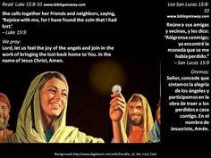You're invited  +  Estás invitado  +  http://www.biblegateway.com/passage/?search=Luke+15%3A8-10