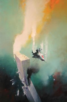 Discover The Art of John Harris, a British artist and illustrator, known for working in the science fiction genre. His paintings have been used on book John John, Fantasy Kunst, Fantasy Art, Fantasy Landscape, Sci Fi Kunst, Science Fiction Kunst, Arte Sci Fi, 70s Sci Fi Art, Arte Tribal