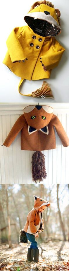 Kids Sewing Design - Julia Pouget for sewing The fox is pretty cute.. We are Renards after all