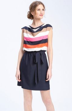 Keep with the striped & color block trend with this cute dress!