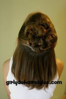 Girly Do Hairstyles: By Jenn: Short Hair--- EASY Half Updo