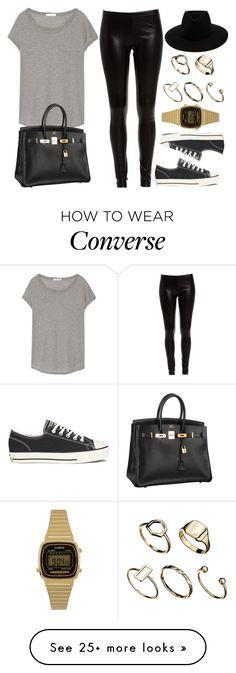 """Style #10799"" by vany-alvarado on Polyvore featuring Bardot, James Perse, Converse, rag & bone, Hermès, ASOS and Casio"