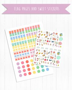 Stickers Sweet +Rainbow Flag Page