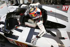 Porsche set the pace in a rain-affected first session of the Le Mans 24 Hours test day. RACER.com