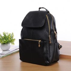 830112bee537 Women s New Backpack Travel PU Leather Handbag Rucksack Shoulder School Bag  in Clothing