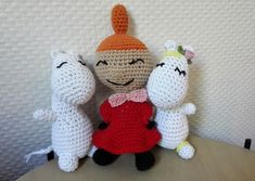 Little My from Moomin – free pattern – Katrine Klarer Amigurumi Patterns, Knitting Patterns, Crochet Patterns, Crochet Toys, Free Crochet, Little My Moomin, Thick Yarn, Cardboard Toys, Cute Crafts