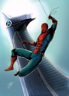 Spider-Man at Avengers Tower - Leandro Raimundo