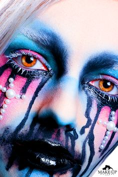 COLOR TRASH - MAKE-UPNATURAL Louise Brooks, Pink Lady, Black Power, Maisie Williams, Nyx Cosmetics, Close Up, Halloween Face Makeup, Photos, How To Make