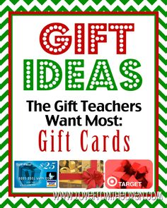 What do our kids' teachers really want for Christmas? This is very helpful! The number one answer (from real teachers) was gift cards. That might help simplify my Christmas shopping!