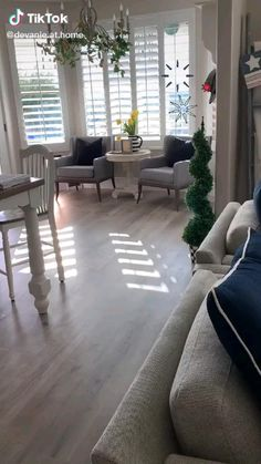 Coastal Farmhouse, Living Room Colors, Home Interior Design, Dining Bench, New Homes, Curtains Living, Yard, Marlow, Minimalist Living