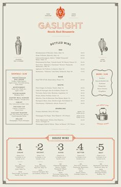 Menu with illustrations.