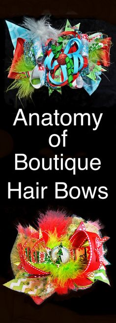 Anatomy of Boutique Hair Bows: the different parts and pieces that make up a stacked hair bow