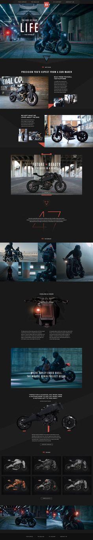 Ronin 47 Motorcycle by Jason Kirtley Webpage Layout, Web Layout, Layout Design, Interface Web, Interface Design, Template Web, Modern Website, Ui Web, Website Design Inspiration