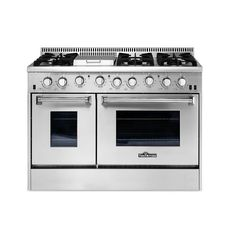 Thor Kitchen 48 in. 6.7 cu. ft. Professional Gas Range in Stainless Steel (Silver)