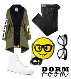 """""""dorm room ❤"""" by memowitta on Polyvore featuring Moschino, BRAX, OLIVIA MILLER, Common Projects and ZeroUV"""