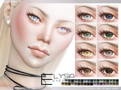 Sims 4 Updates: TSR - Eyes : Elysia Eyes N86 35 colors by Pralinesims, Custom Content Download!