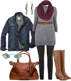 """Fall Tunic - Plus Size"""" by alexawebb liked on ... 