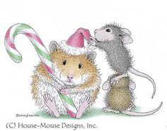 """""""Sending good cheer for a festive holiday and a Happy New Year!"""" from House-Mouse Designs®"""