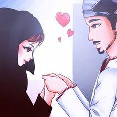 Want Powerful Islamic Wazifa To Get Husband In Control then Call Molvi Wahid Ali Khan Ji. Love Cartoon Couple, Cute Couple Art, Couple Pics, Cute Muslim Couples, Cute Couples, Muslim Couple Photography, Islamic Cartoon, Girly M, Anime Muslim