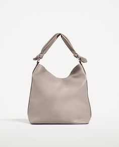 KNOTTED HANDLE BUCKET BAG - Available in more colours