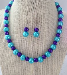 Turquoise and Purple Necklace Turquoise and by CherishedJewelryCo, $24.00