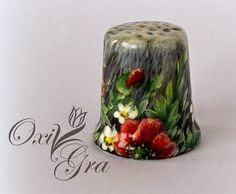 HANDPAINTED THIMBLE BY OXI GRA FROM POLAND