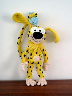 Marsupilami by AmigurumiBB others free pattern amigurumi Hello Kitty Amigurumi, Amigurumi Doll, Crochet Patterns Amigurumi, Crochet Dolls, Baby Unicorn, Crochet Animals, Diy Crochet, Crochet Basics, Stuffed Toys Patterns