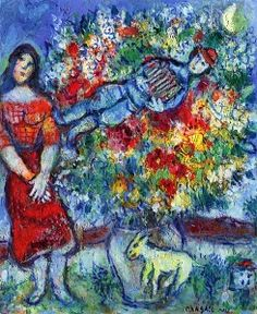 The Accordion Player - Marc Chagall - The Athenaeum