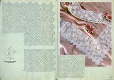 "Photo from album ""border on- Photo from album ""кайма on – on Yandex. Filet Crochet Charts, Crochet Borders, Crochet Diagram, Crochet Patterns, Crochet Tutorials, Crochet Home, Crochet Trim, Knit Or Crochet, Crochet Tablecloth"