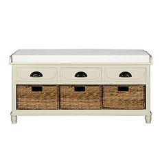 £149 106cm x 50h x 39d Devon Cream Storage Bench | Dunelm